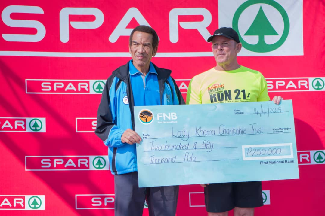SPAR Botswana donates money to Lady Khama Charitable trust